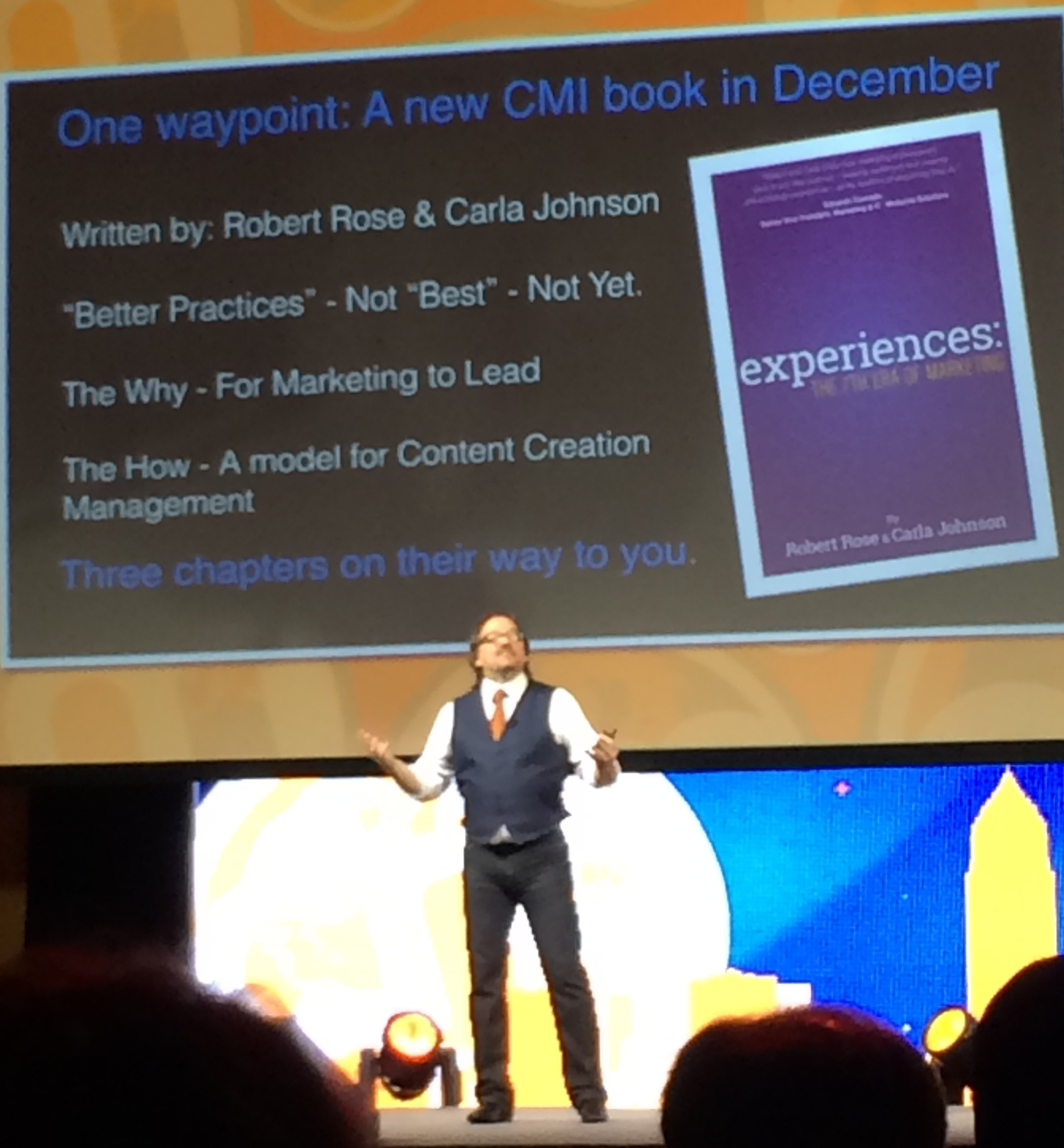 Robert Rose on Stage at Content Marketing World 2014