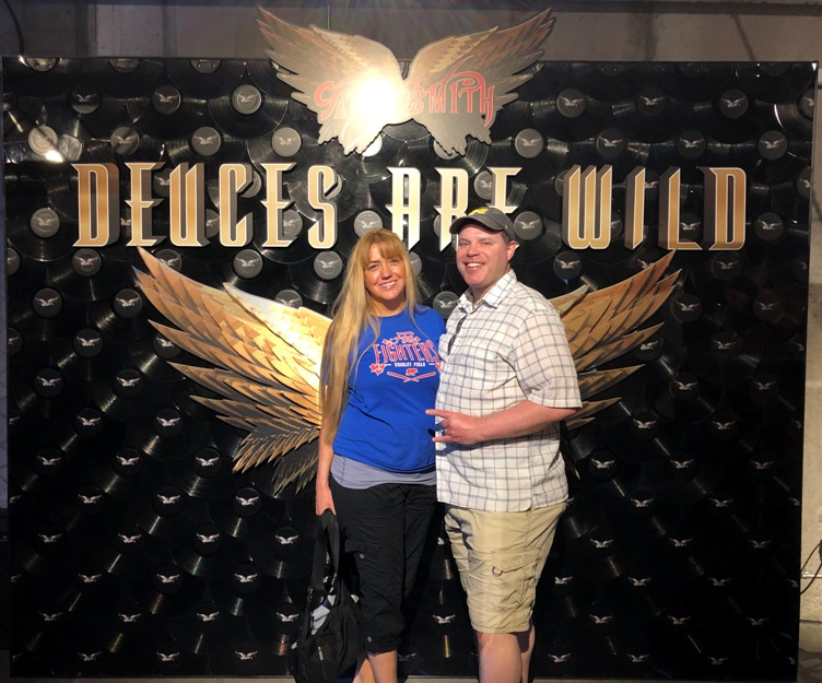 Kristen and I at the Aerosmith Museum in Las Vegas