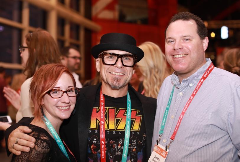 "Me with Joe ""JK"" Kalinowski and Laurel Miltner at Content Marketing World"