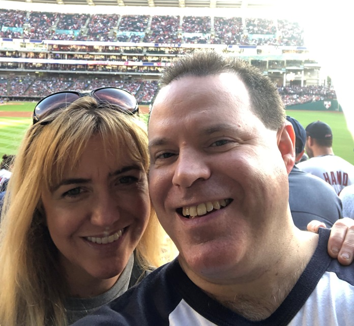 Kristen and I at a Cleveland Indians Game