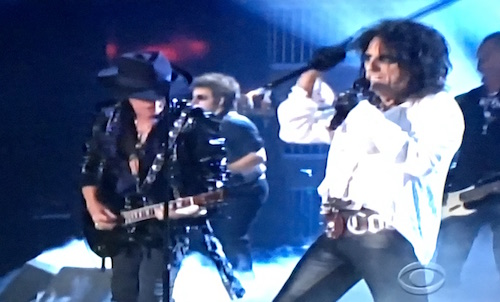 Alice Cooper and Joe Perry at the Grammys