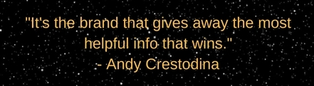 Andy Crestodina Quote from Content Marketing World 2016