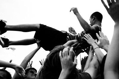 Concert Goer Crowdsurfing