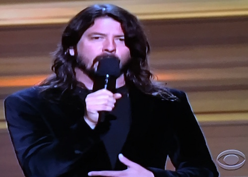 Dave Grohl at the Grammys