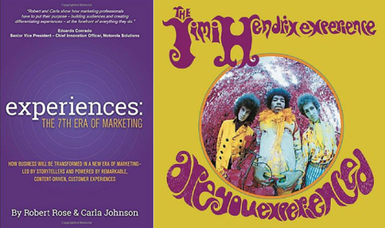 Experiences: 7th Era of Marketing Cover with Are You Experienced Cover
