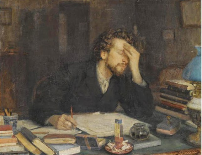 Aha Writing Moment: Throes of Creation by Leonid Pasternak