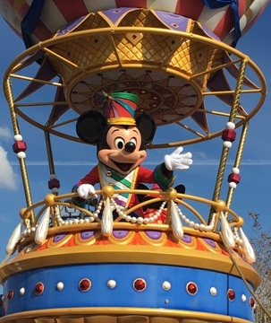 Mickey Mouse in Disney World Parade