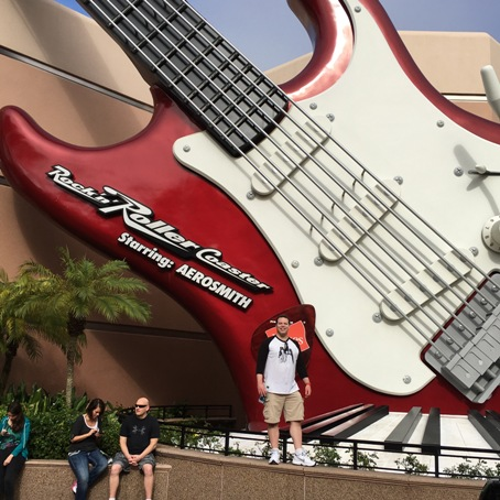 Me In Front of the Rock and Roller Coast Ride's Guitar