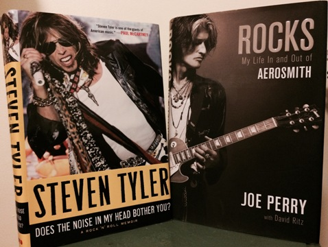 Steven Tyler and Joe Perry Aerosmith Autobiography Covers