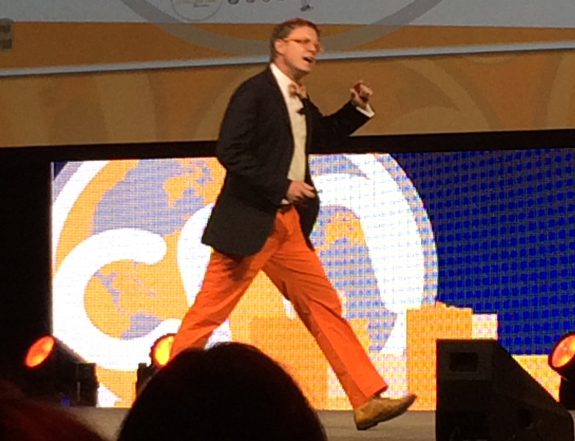 Andrew Davis on Stage at Content Marketing World 2014
