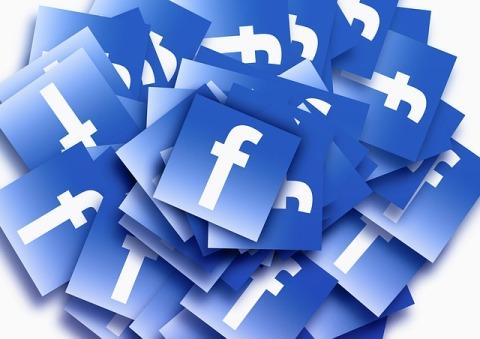 Pile of Facebook Logos