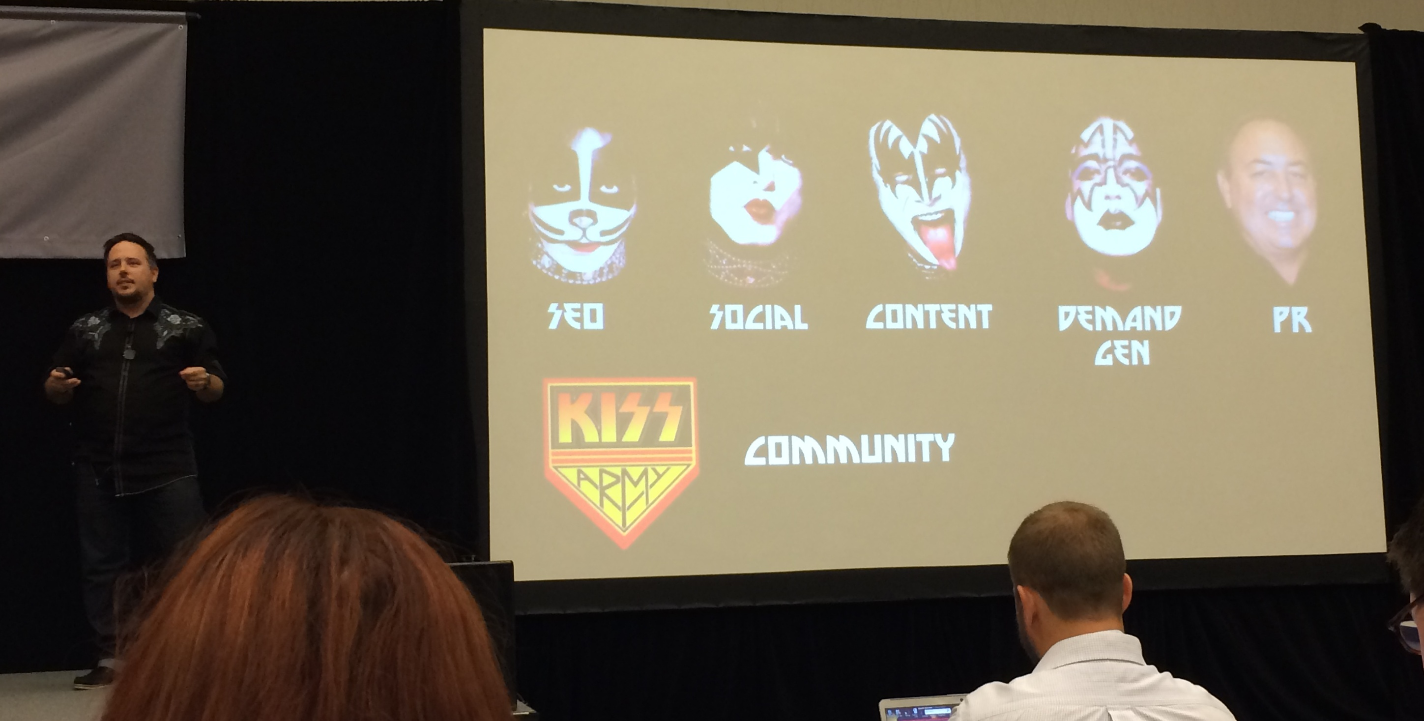 Jason Miller at Content Marketing World with KISS Slide