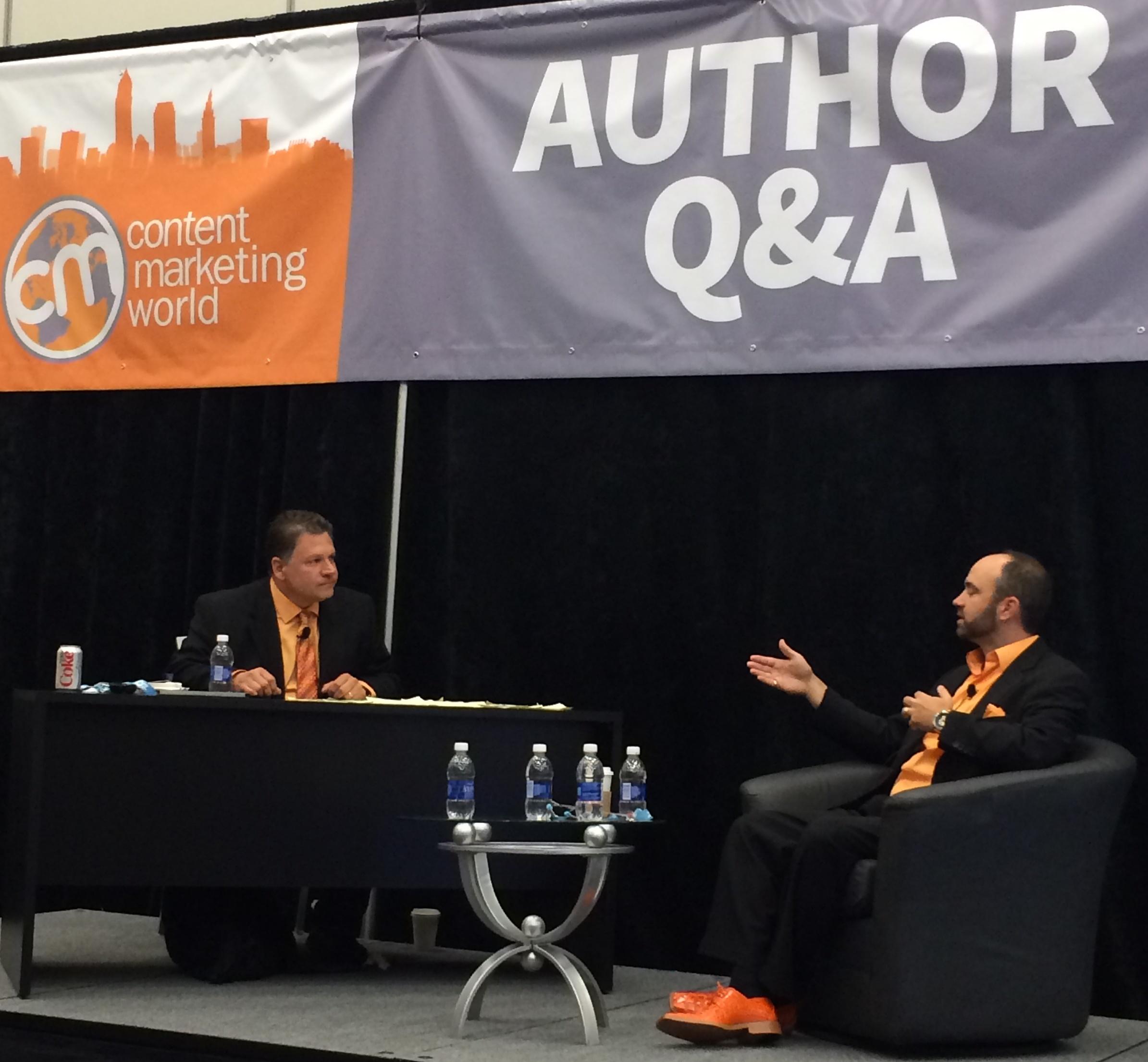 Buddy Scalera Interviewing Joe Pulizzi