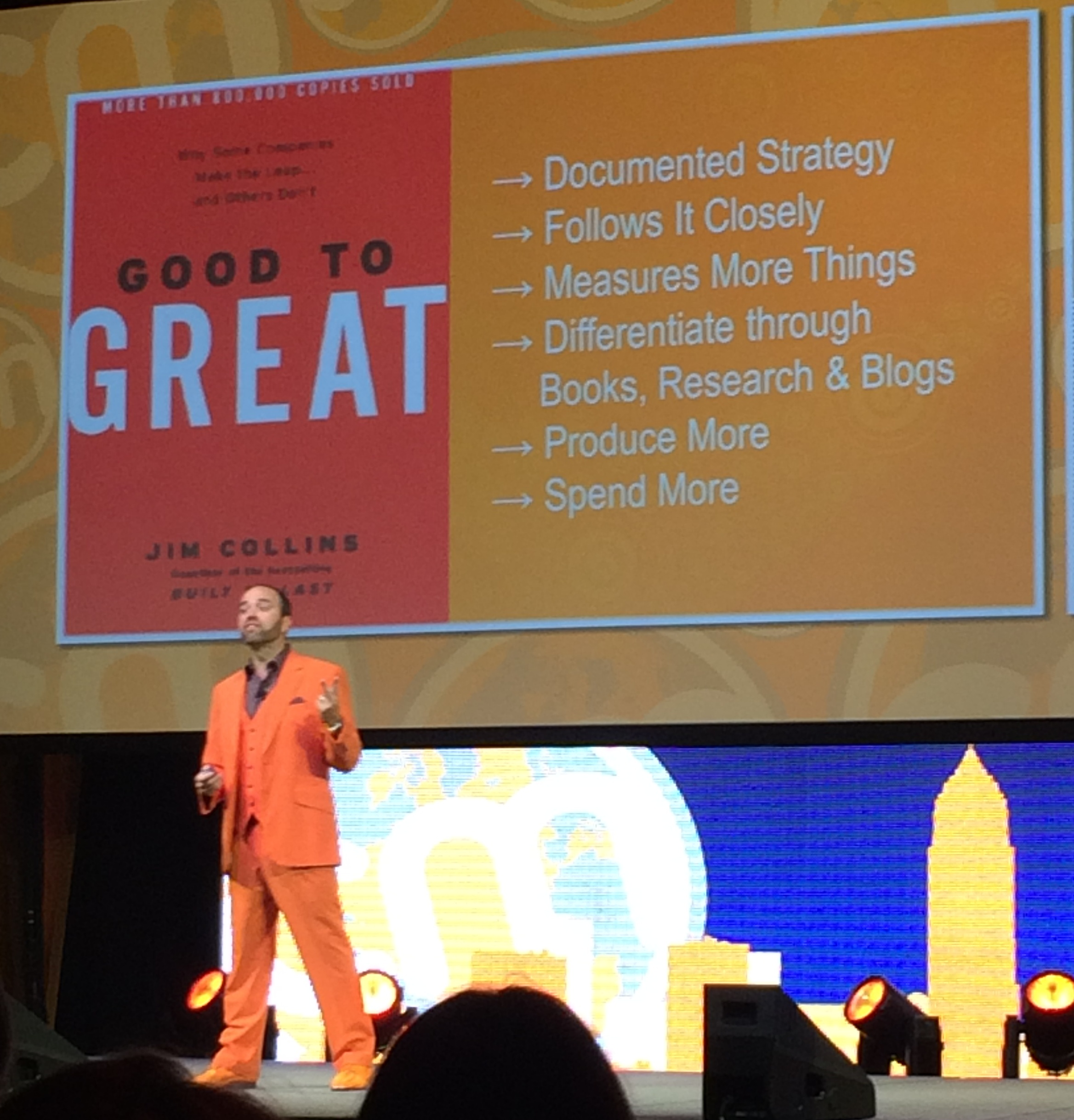 Joe Pulizzi On Stage at Content Marketing World 2014