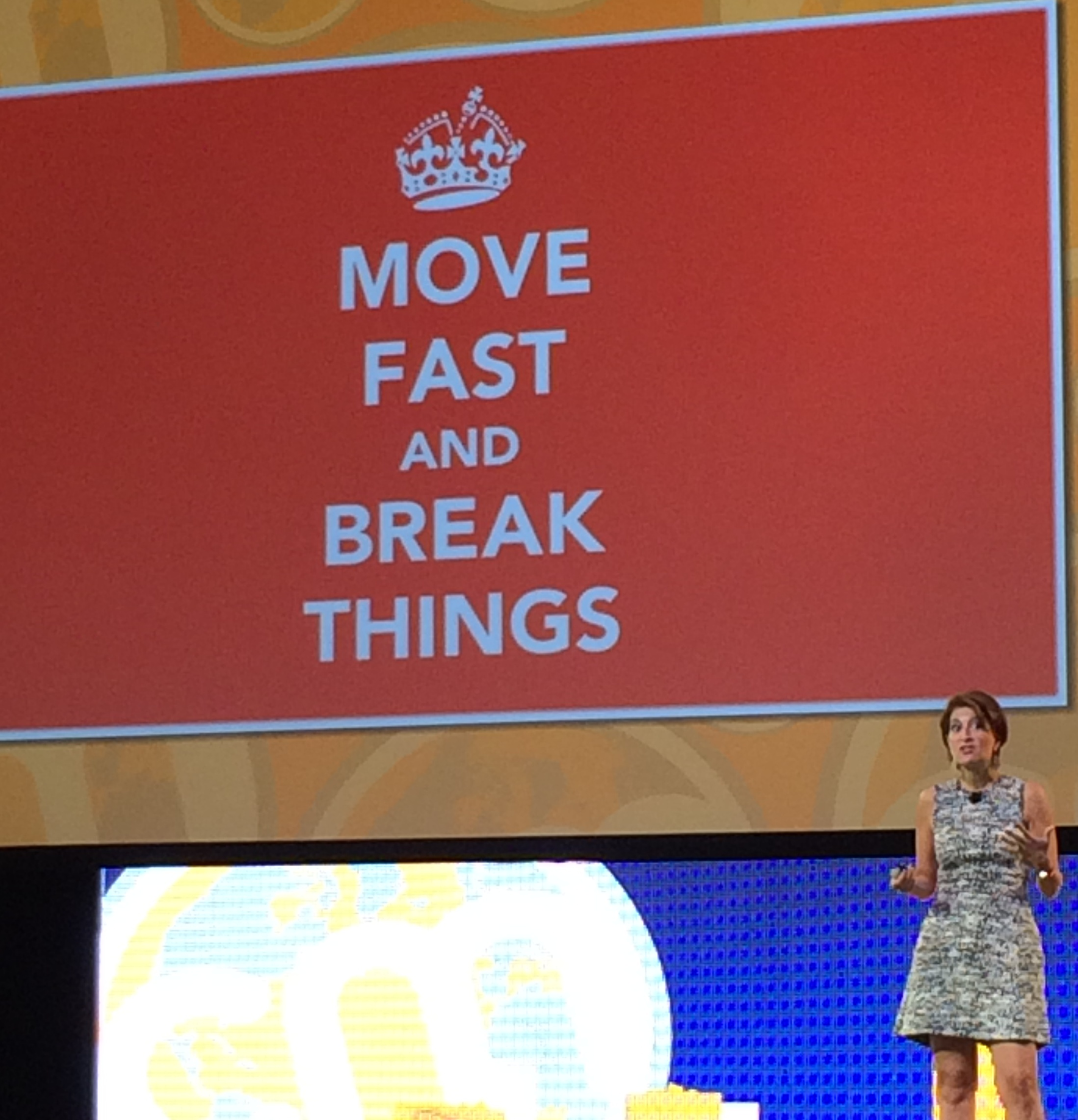 Julie Fleischer on Stage at Content Marketing World 2014