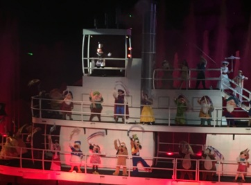 Disney World Characters on the Riverboat