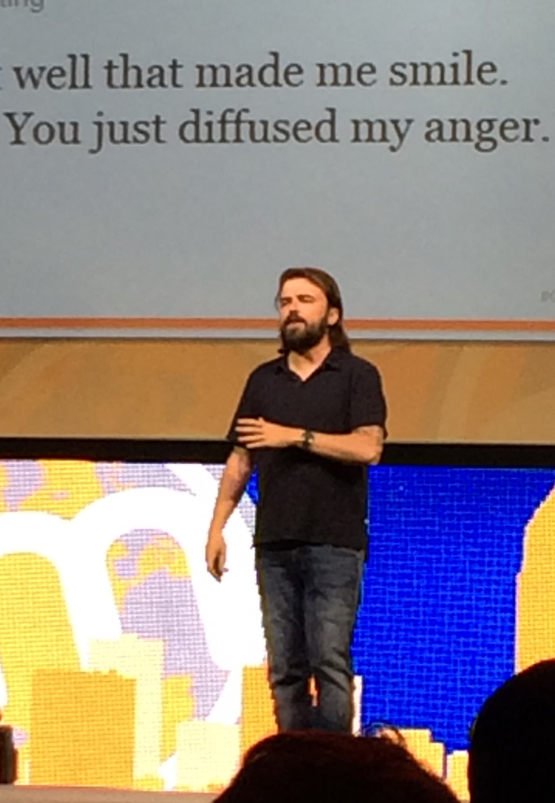 Scott Stratten on Stage at Content Marketing World 2014