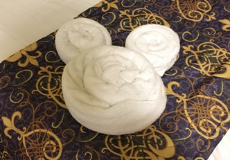 Disney Resort Towel Shaped Like Mickey Mouse