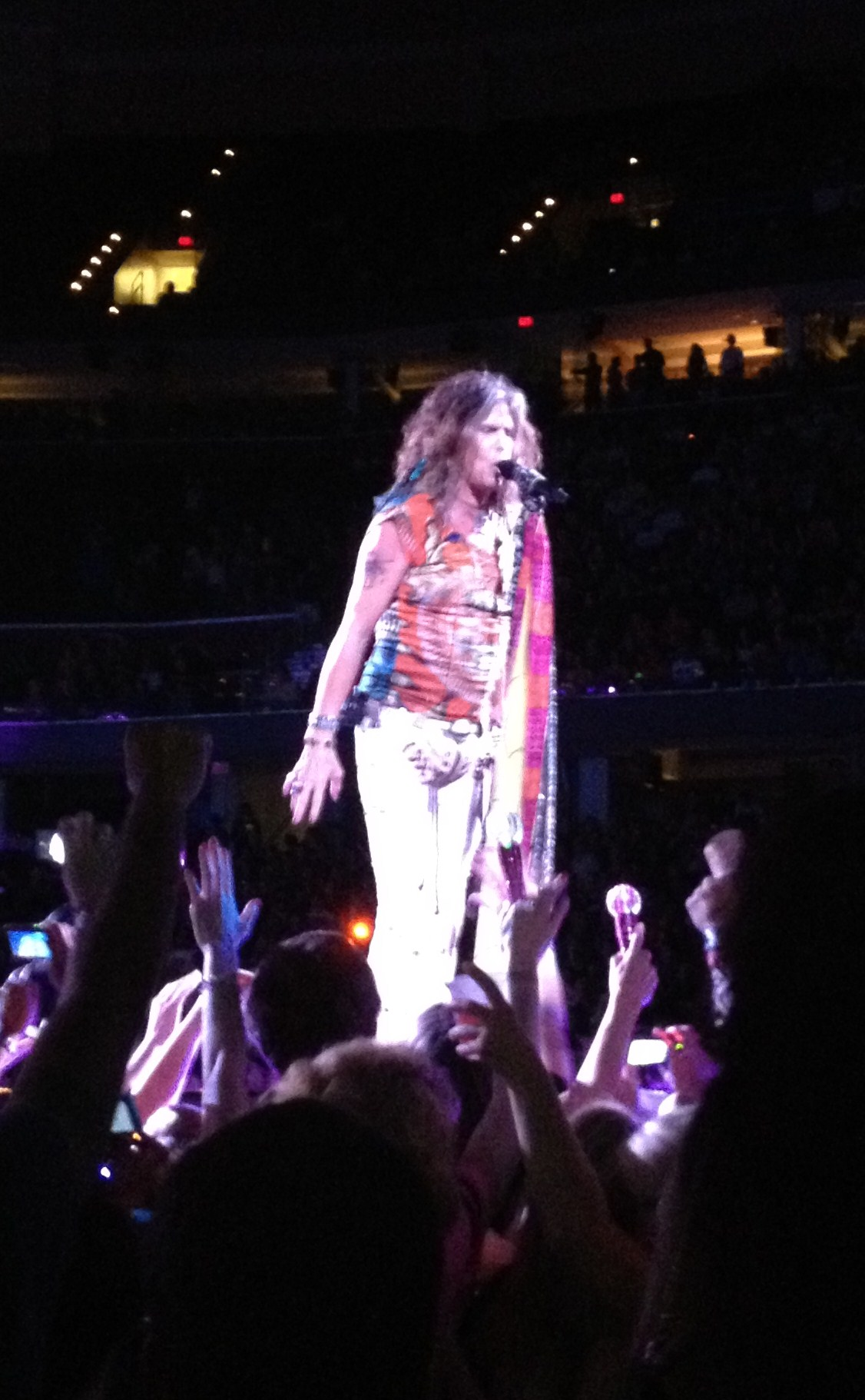 Steven Tyler on Stage in Cleveland