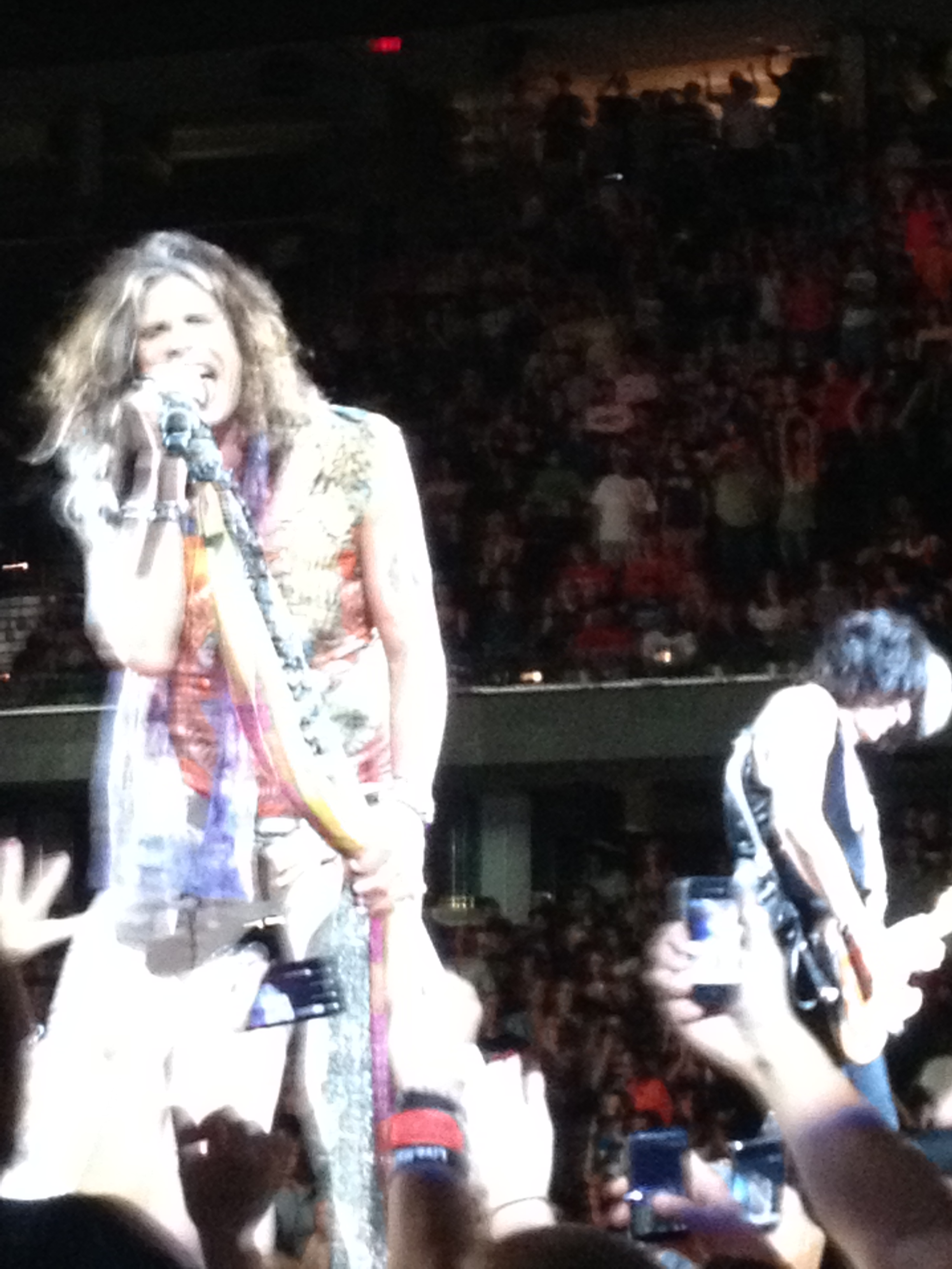 Steven Tyler and Joe Perry on Stage in Cleveland
