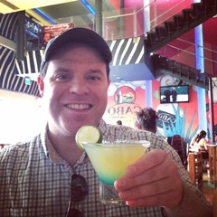 Jeremy holding a Waborita at the Cabo Wabo Cantina in Las Vegas