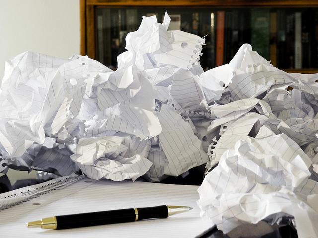 Writer's Block Crumpled Paper