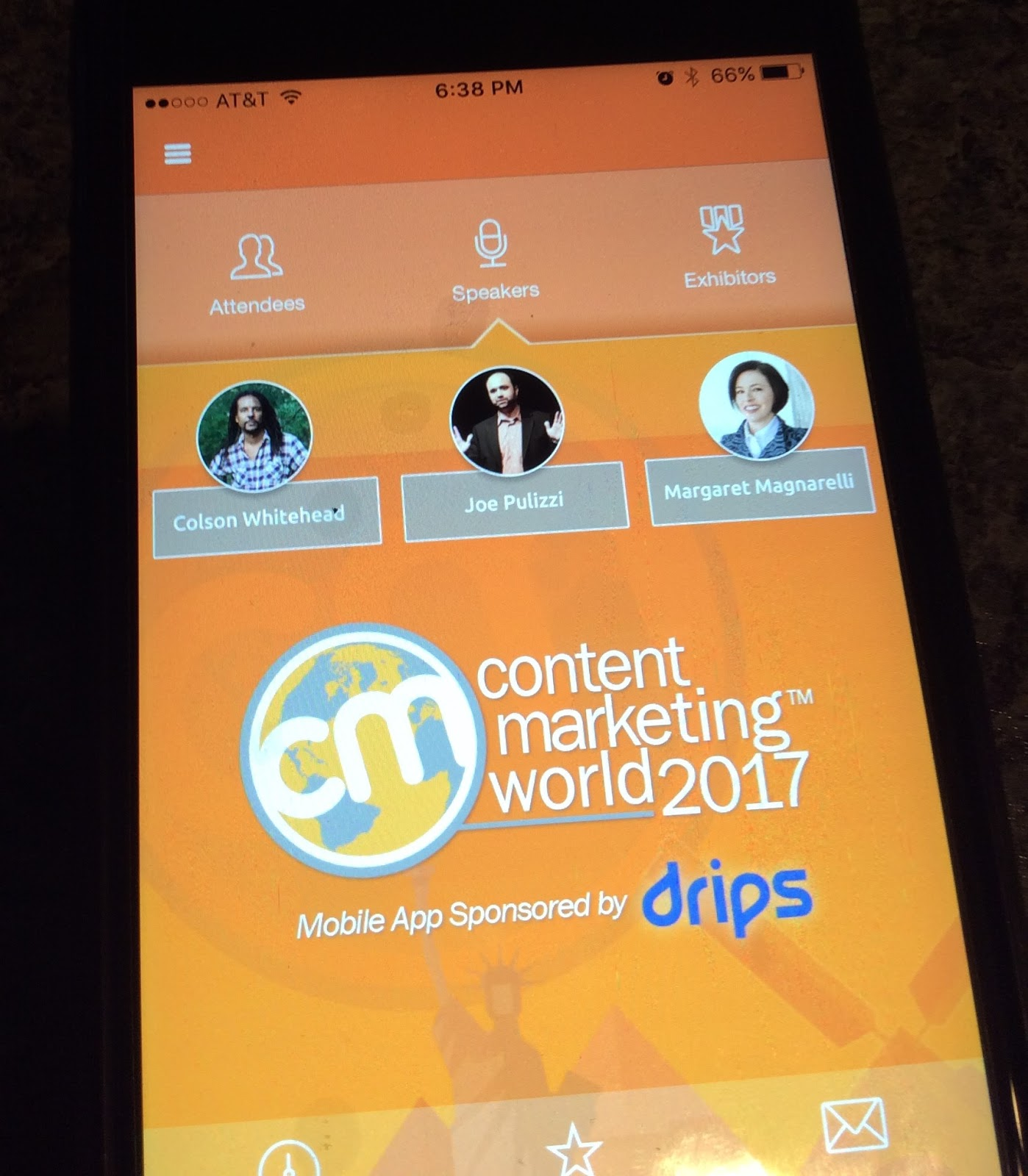 Content Marketing World 2017 App Homescreen