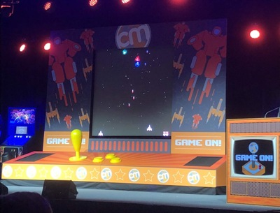 Content Marketing World 2018 Stage - Game On Theme