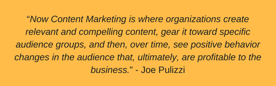 Joe Pulizzi Quote from Killing Marketing