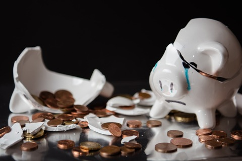 Marketing Agency Budget Broken Piggy Bank
